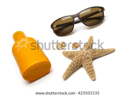 Suntan lotion - stock photo