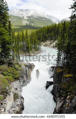 Sunwapta Falls Stock Images, Royalty-Free Images & Vectors