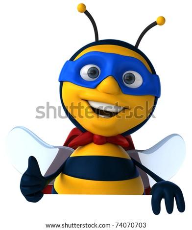 Super bee - stock photo