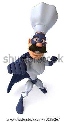 Super chef - stock photo