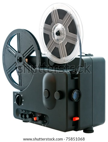 Super 8 film projector - stock photo