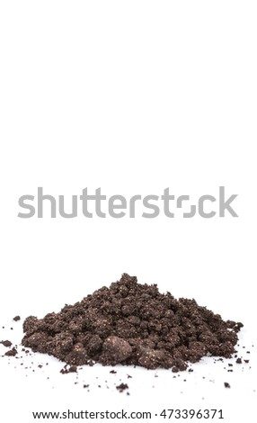 Super food dried maqui berry powder over white background