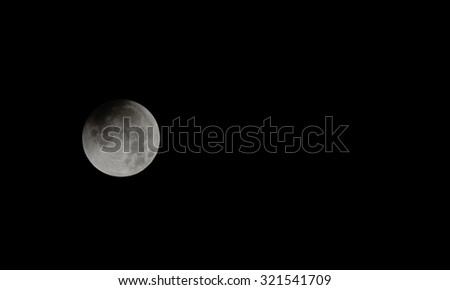 Super full moon before going into blood moon - stock photo
