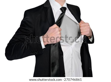 Super hero business man concept - stock photo
