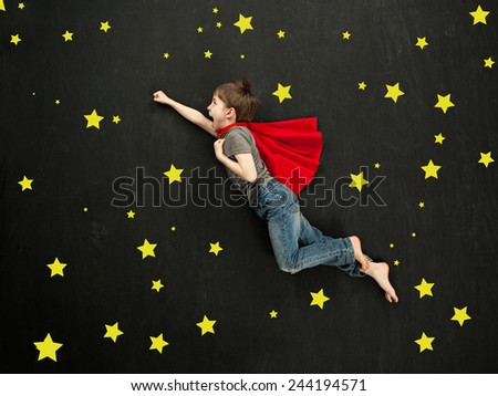 Super hero concept - stock photo