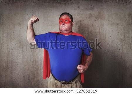 Super hero defender of the universe.  - stock photo