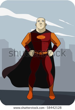 Super hero ready to save the world! - stock photo