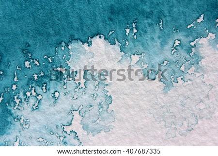 Super Macro Blue Watercolor Textures 11 - stock photo