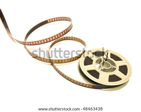 Super 8 mm color motion picture film reel top view