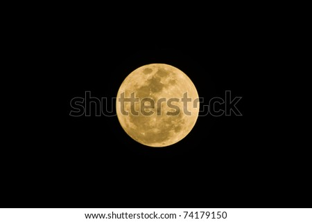 Super Moon ; March 19, 2011 is the day the world's greatest close to the moon, taken from Bangkok, Thailand - stock photo