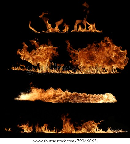 Super size fire collection 4 - stock photo