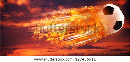 Super strike. Abstract football and soccer backgrounds for your design - stock photo