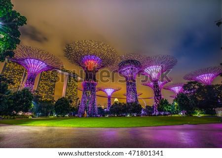 stock-photo-super-tree-park-is-landmark-