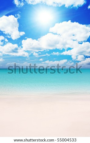 Superb Beach at Summertime - stock photo