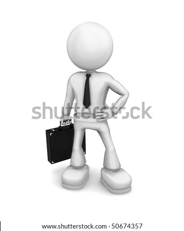 SuperBusinessMan. 3d image isolated on white background.