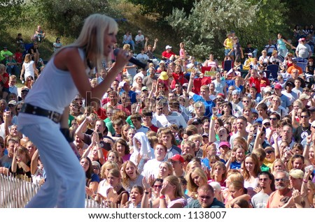 Superchick and crowd