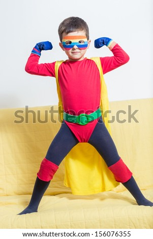 Superhero boy - stock photo