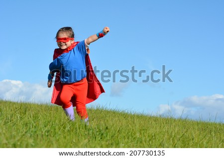 Fly Girl Superhero Superhero Child Girl Try to