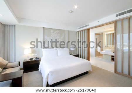 superior bedroom - stock photo