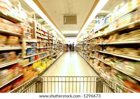 Supermarket Blur - stock photo