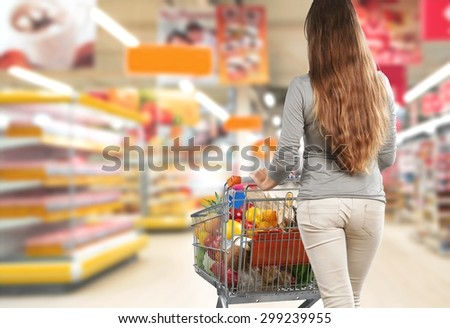 Supermarket, Freezer, Groceries.