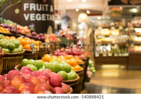 Supermarket , fruit and vegetable zone