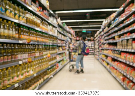 supermarket in blurry for background good