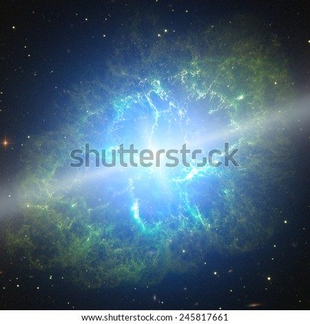 Supernova explosion. Elements of this image furnished by NASA. - stock photo