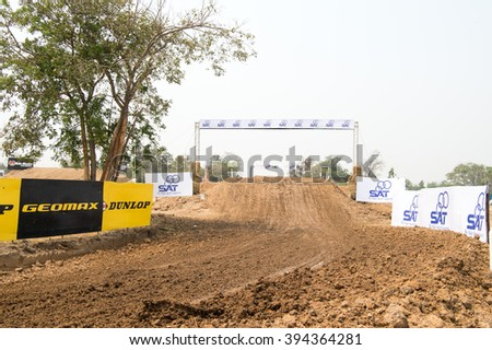 SUPHANBURI-MARCH 05:Views track in Suphanburi Motorsportland during  the FIM Motocross Wolrd Championship Grand Prix of Thailand on March 05,2016 in Thailand. - stock photo