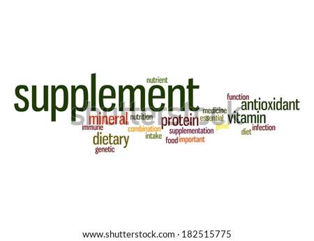 Supplement word cloud - stock photo