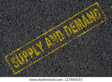 Supply and demand background