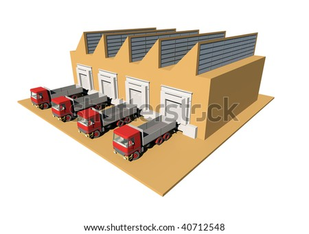 Supply Chain and Logistics Series Diagram Set Object - stock photo