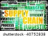 Supply Chain Management Background as Design Art - stock photo