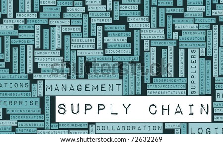 Supply Chain Management Processes As a Concept - stock photo