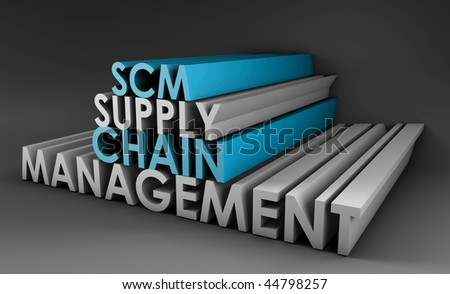 Supply Chain Management SCM Industry in 3d