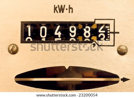 supply meter, electrical counter - stock photo