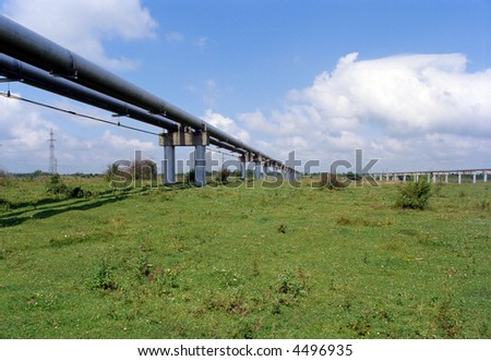 Supply of natural gas and LPG to industry, commercial and household sectors. - stock photo