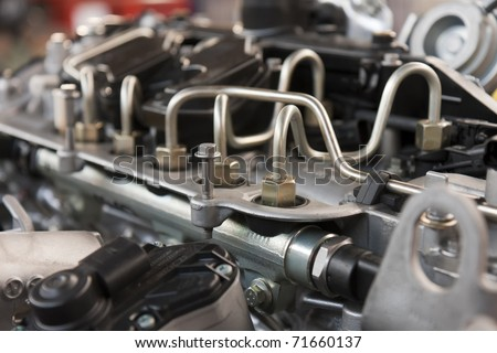 supply system for diesel fuel - stock photo