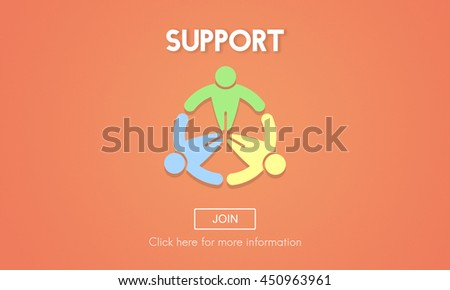 Support Collaboration Assistance Help Motivation Concept - stock photo