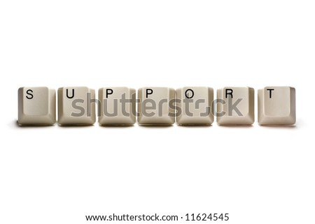 support - computer keys, isolated on white