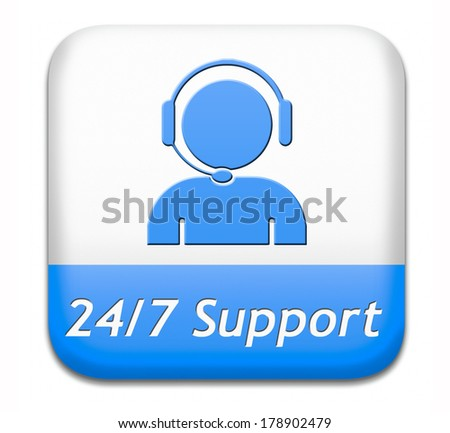 support desk blue sign or button or 24/7 help desk button technical assitance and customer service - stock photo