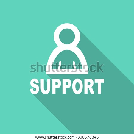 support flat design modern icon with long shadow for web and mobile app  - stock photo