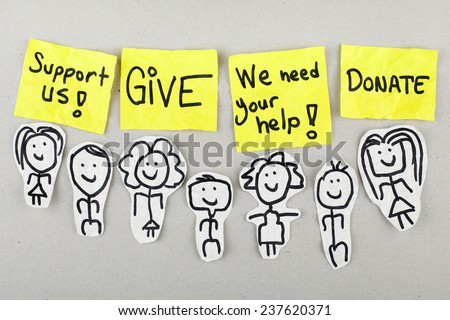 Support / Give / Donate Concept - stock photo