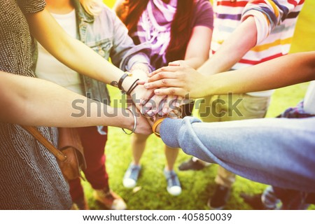 Support Help Collaborate Community Together Concept - stock photo