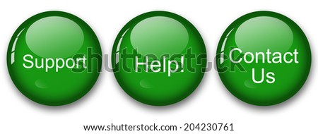 support help contact us - stock photo