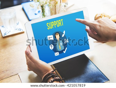 Support Helping Customer Service Advice Concept - stock photo