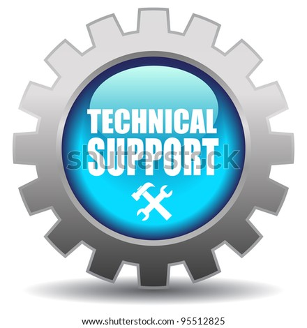 Support icon over white - stock photo