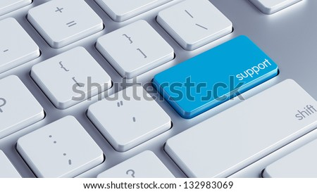 Support Key - stock photo
