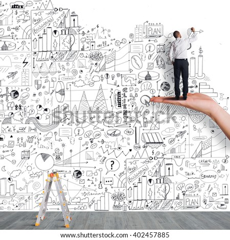 Support on business project - stock photo