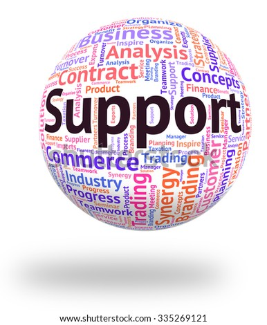 Support Word Showing Aid Helping And Supports - stock photo